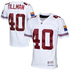 4747fa53c Mens Arizona Cardinals Pat Tillman Mitchell   Ness White 2000 Retired Player  Vintage Replica Jersey