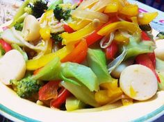 .home-cooked.stir-fry.vegetables.