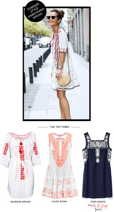 SUMMER STYLE: EMBROIDERED DRESS