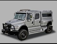 When you're paranoid about your family's safety, like to waste petroleum, and you think a Hummer HUMVEE isn't big enough. Jeep Truck, Truck Camper, Custom Trucks, Cool Trucks, Pickup Trucks, Cool Cars, Zombies, Heavy Truck, Huge Truck