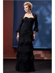 Attractive Tiered Sheath Sweetheart Neckline Floor-Length Alina's Mother of the Bride Dress