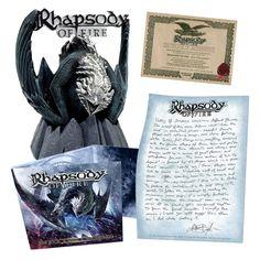 """L'album dei #RhapsodyOfFire intitolato """"Into the legend"""" in formato digipak (con video e bonus track)."""