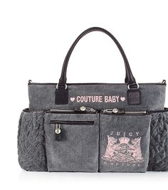 Juicy Couture Diaper bag. Love. I would like it in black though.