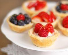 Summer Berry Tarts for brunch
