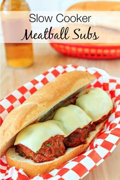 A Super Easy Slow Cooker Meatball Subs Recipe