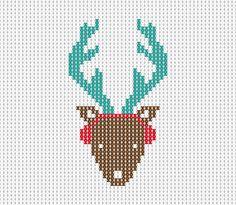 Christmas design, knitted, reindeer
