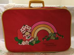 Vintage Strawberry Shortcake Suitcase from The 80's! For Sale at The Silly Sparrow Shop on Etsy. Stop by for more vintage children's toy finds from The 60's to the 90's :)