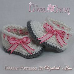 Booties Crochet Pattern for MY ANGEL BABY booties by TheLovelyCrow