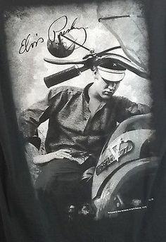 Elvis Presley Shirt Medium Black Rock and Roll Hall of Fame Museum Cleveland