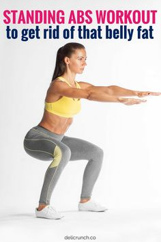 standing abs workout routines for women to get rid of belly pooch you can do at . - standing abs workout routines for women to get rid of belly pooch you can do at home. It's an ab - Abs Workout Video, Six Pack Abs Workout, Workout Challenge, Workout Kettlebell, Best Ab Workout, Workout Fitness, Post Workout, Fitness Goals, Fitness Motivation
