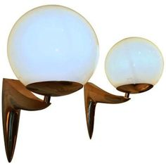 1stdibs - A Pair of Mid Century Gilt Brass Wall Sconces, Five Pairs Available explore items from 1,700  global dealers at 1stdibs.com