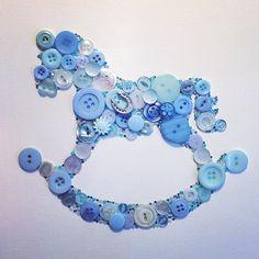 Rocking horse - button art - buttons