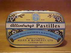 Vintage Tin Allenbury's Pastilles Medicine | eBay