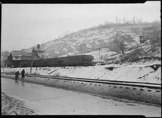 Scott's Run, West Virginia. Pursglove No. 5 - Scene taken from main highway shows typical hillside camp. The houses are multiple dwellings, March 1937. National Archives via Flickr.