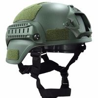 Mich 2000 Tactical Helmet Airsoft Paintball Head Protector with NVG Shroud RAC Rail Movie Prop Wargame Cosplay