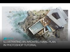 Illustrating an Architectural Plan in Photoshop - Narrated Full Tutorial - Realtime - YouTube