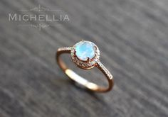 14/18K Gold Moonstone Ring with Diamond, Solid Gold Rainbow Moonstone Engagement Ring, Promise Ring, Blue Moonstone, Rose Gold, White Gold by MichelliaDesigns on Etsy https://www.etsy.com/uk/listing/271294567/1418k-gold-moonstone-ring-with-diamond
