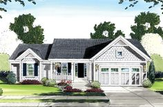 Cottage House Plan chp-37211 at COOLhouseplans.com