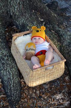 Baby Winnie the Pooh baby milestone shoot
