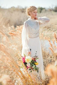 Vintage thrifted wedding dress | (Parentheses) Photography | see more on: burnet