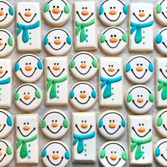 Snowmen For Days Design By My Personal Hero Jillfcs Everything She Does Is Perfection selber machen ice cream cream cream cake cream design cream desserts cream recipes Super Cookies, Fancy Cookies, Iced Cookies, Royal Icing Cookies, Cupcake Cookies, Fondant Cookies, Cupcakes, Christmas Sugar Cookies, Holiday Cookies