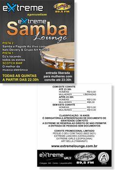 Extreme Samba Lounge [Cartão Duplo] (Convite)