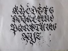 Calligraphy pack 2 / by Mateusz WLK Wolski, via Behance