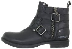 The perfect black biker boots IV - REPLAY Aimo Herren Biker Boots.
