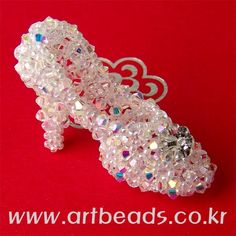 Beaded Shoe PATTERN glass slipper artbeads