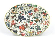Vintage Daher Floral Tin Bowl by daphnebleu on Etsy