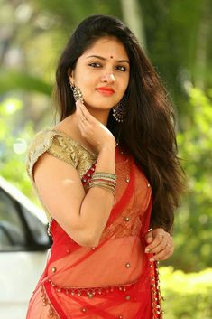 Tollywood Actress Gayathri Suresh Photos in White And Red Half Saree at Hero Heroine Movie Teaser Launch Beautiful Girl Image, Beautiful Gorgeous, Beautiful Saree, Beautiful Bollywood Actress, Beautiful Indian Actress, Beautiful Actresses, Beauty Full Girl, Beauty Women, India Beauty