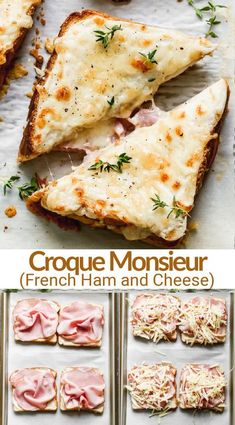 Croque Monsieuris the French version of a toasted ham and cheese sandwich. And, like manythings, the French do it better! #croquemonsieur #French #ham #sandwich #lunch #easydinner #tastesbetterfromscratch via @betrfromscratch Healthy Sandwiches, Sandwiches For Lunch, Soup And Sandwich, Ham Cheese Sandwiches, Non Sandwich Lunches, Delicious Sandwiches, Ham And Cheese, Lunch Recipes, Breakfast Recipes