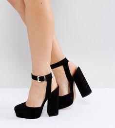c1cf0f866aaa ASOS PINATA Wide Fit Platforms - Black Pump Shoes