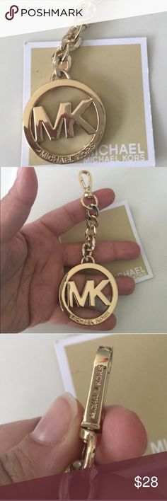 New Michael kors golden keychain or bag charm Bundle up and save- 10 available Michael Kors Bags