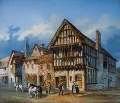 Blue Boar Inn, Highcross Street by Browne T Chapman. Uk History, British History, King Richard 111, Battle Of Bosworth Field, Renaissance Architecture, Tudor Architecture, Elisabeth I, Warrior King, Plantagenet