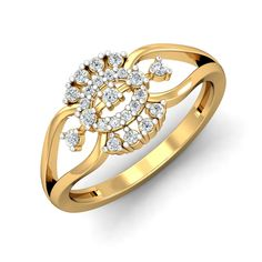 The Melissa Ring - Diamond Jewellery at Best Prices in India Tiny Diamond Ring, Diamond Jewellery, Diamond Engagement Rings, Gold Jewelry, Jewelry Rings, Beautiful Gold Rings, Gold Ring Designs, Diamond Stores, Jewelry Design