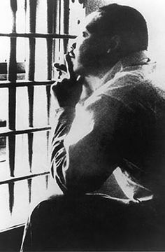 Martin Luther King And The Call To Direct Action On Climate . Photo: Martin Luther King in Birmingham jail Dr Martins, Civil Rights Leaders, Civil Rights Movement, Memphis Tennessee, Black Power, Letter From Birmingham, Celebridades Fashion, Photo Print, By Any Means Necessary