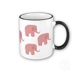 Pink elephants mug!