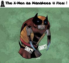 The X Men as Manatees. I'm not sure why I think this is so funny... :P