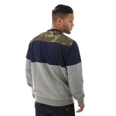 King Apparel Militia Sweatshirt Grey Navy Camo at Attitude Inc #4