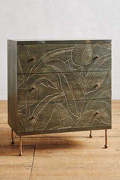 Liri Leaf Three-Drawer Dresser - anthropologie.com