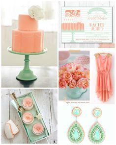 Haute Chocolate - Calgary Party Styling and Custom Party Decor: Peach + Mint Wedding Shower Inspiration