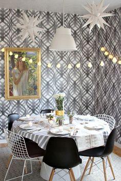 Fun, patterned wallpaper