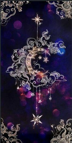 crescent moon, mandala drawings, backgrounds for girls, purple background Cellphone Wallpaper, Galaxy Wallpaper, Iphone Wallpaper, Moon And Stars Wallpaper, Cute Backgrounds, Wallpaper Backgrounds, Wallpaper Ideas, Geometric Tatto, Wow Art