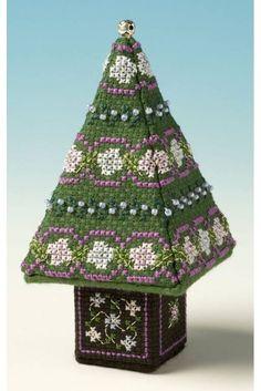 Blue & Silver Small Tree 3D Cross Stitch Kit £13.95 | Past Impressions | The Nutmeg Company