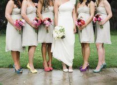 #zapatos de #novia damas de honor zapatos de colores