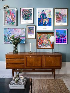 Eclectic Living Room, Eclectic Decor, Living Room Decor, Eclectic Gallery Wall, Eclectic Modern, Eclectic Style, Modern Art, Wal Art, Colorful Apartment
