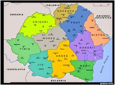 The administrative divisions of Romania between 14 August 1939 and 16 September Gyr, Republica Moldova, Old Maps, Historical Maps, History Facts, Me On A Map, Bart Simpson, Bulgaria, September