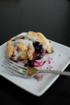 Blueberry Cinnamon Rolls!  Yes, Please!