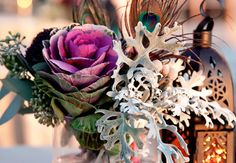 Centerpiece with Vegetables |  Photo: Vue Photography // Featured: The Knot Blog